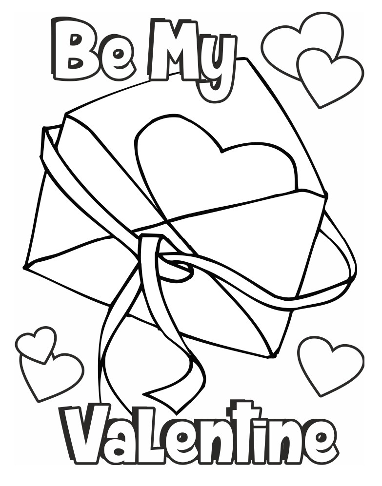 Be My Valentine Day Card to Print