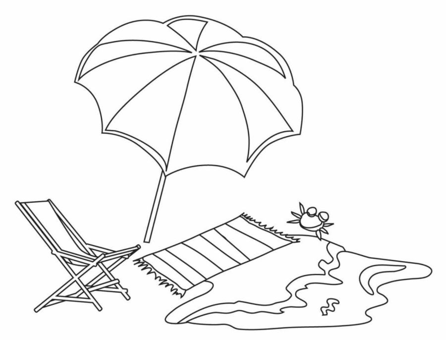 Beach Umbrella Coloring Pages