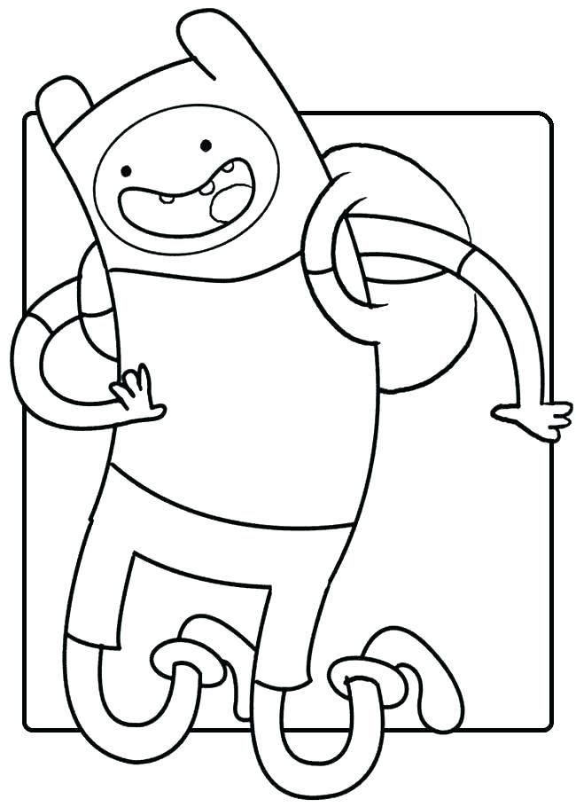 Cartoon Coloring Pages Finn