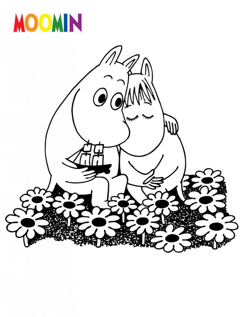 Cartoon Coloring Pages - Moomin