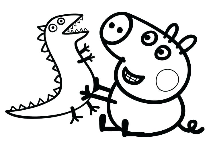 Cartoon Coloring Pages Peppa Pig