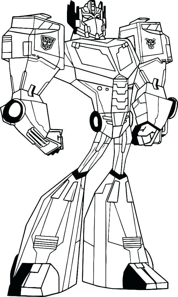 Cartoon Optimus Prime Coloring Pages