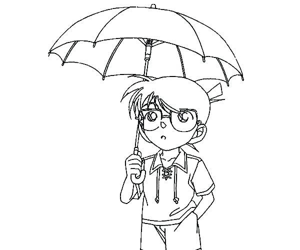 Cartoon Umbrella Coloring Pages