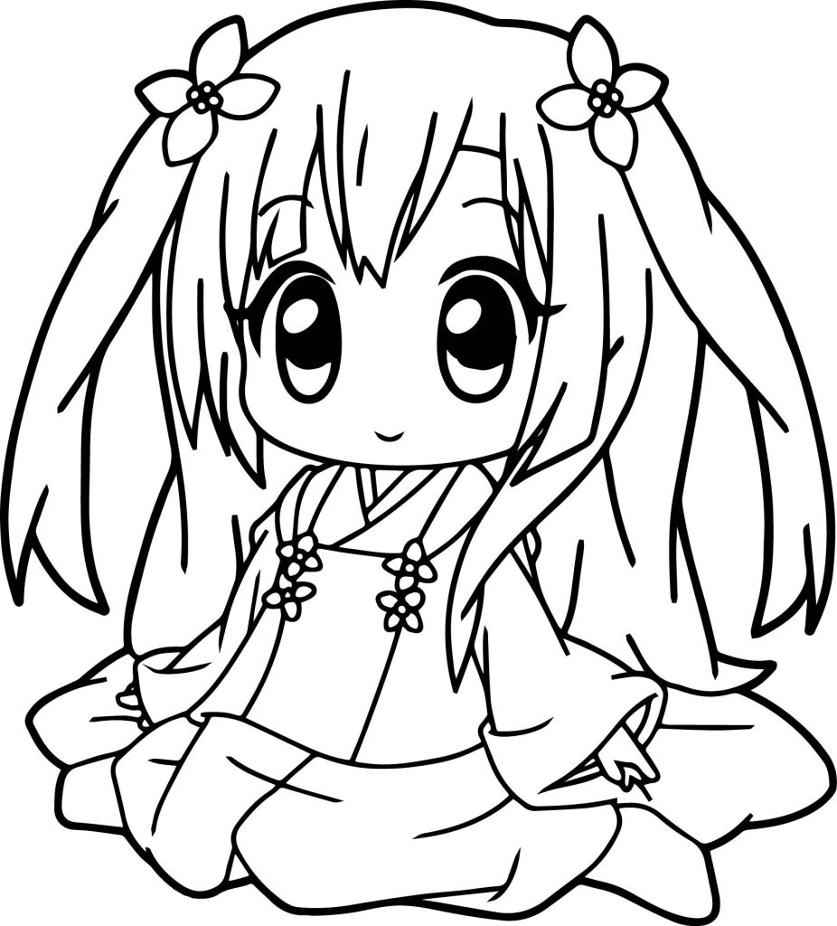 Cute Coloring Pages Anime
