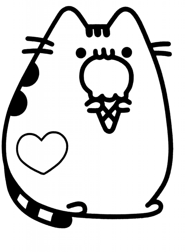 Cute Coloring Pages Pusheen