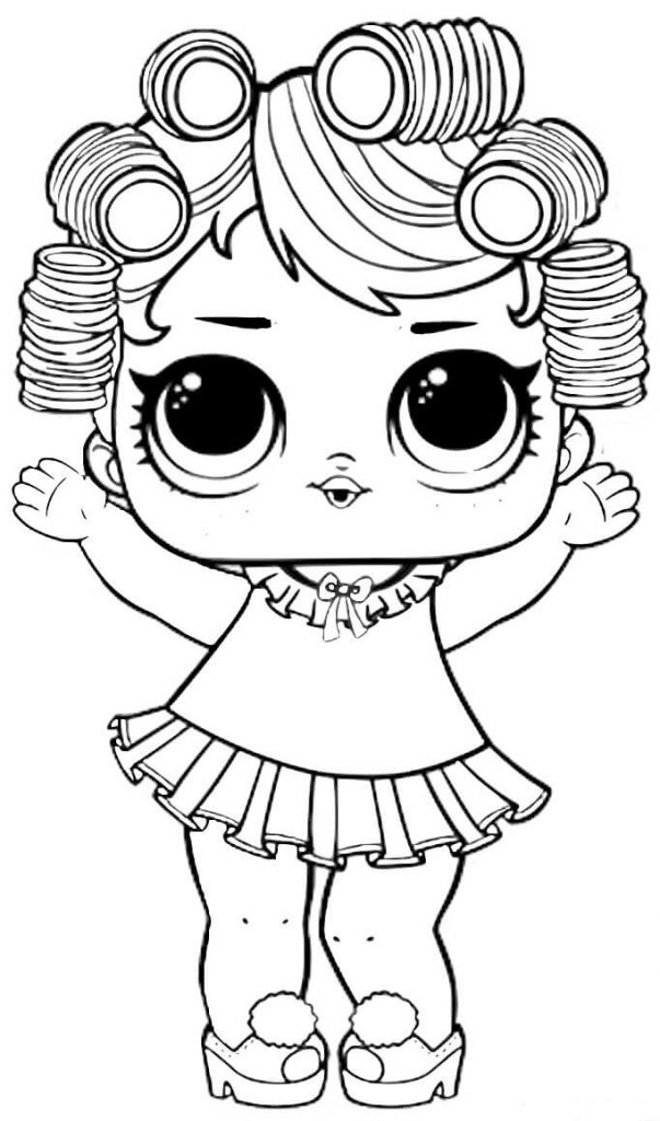 Cute Lol Dolls Coloring Page