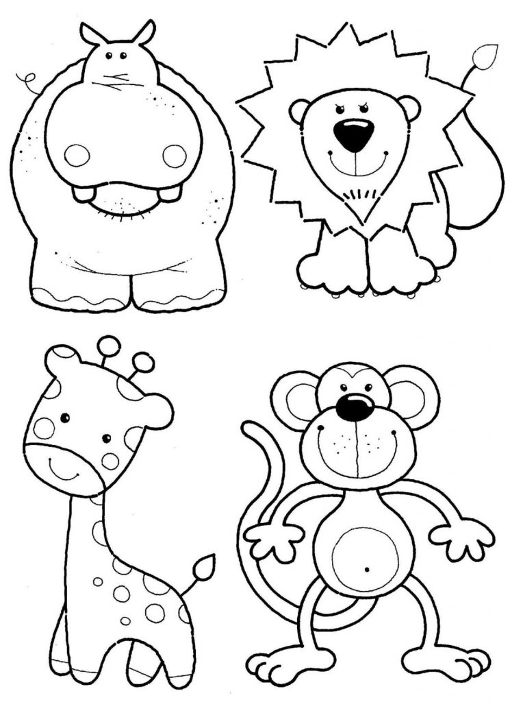 Cute Wild Animal Coloring Pages Zoo