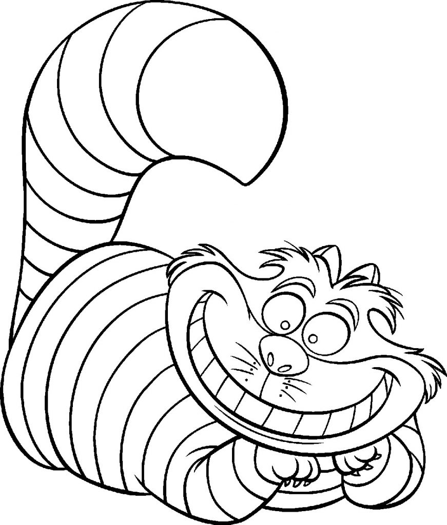 Disney Coloring Pages - Cheshire Cat