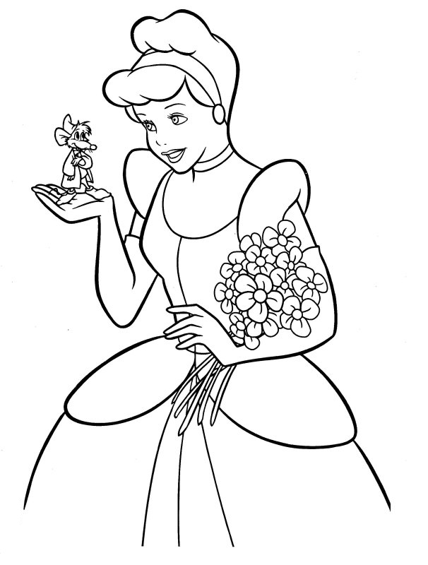 Disney Coloring Pages - Cinderella