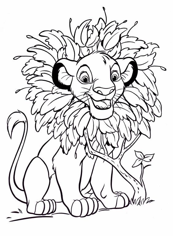 Disney Coloring Pages - Simba