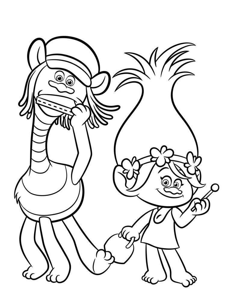 Disney Coloring Pages - Trolls