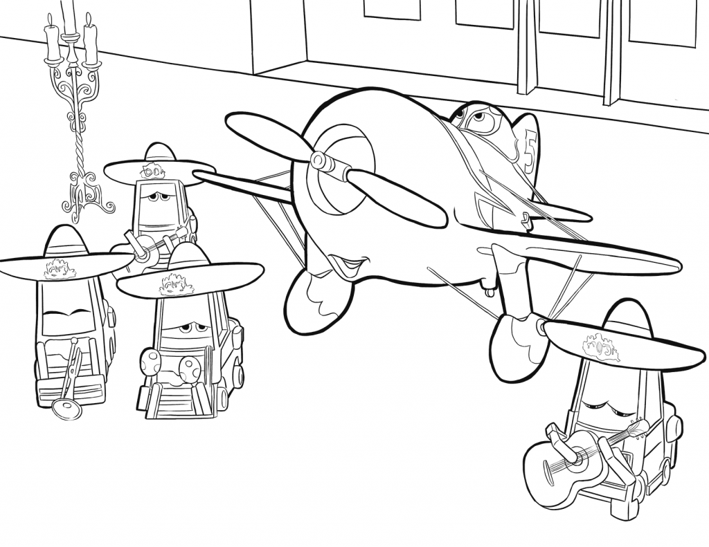Disney Planes Coloring Page Printable