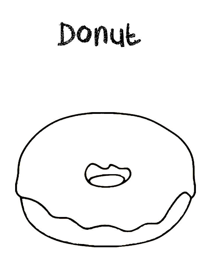 Donut Coloring Pages Best Coloring