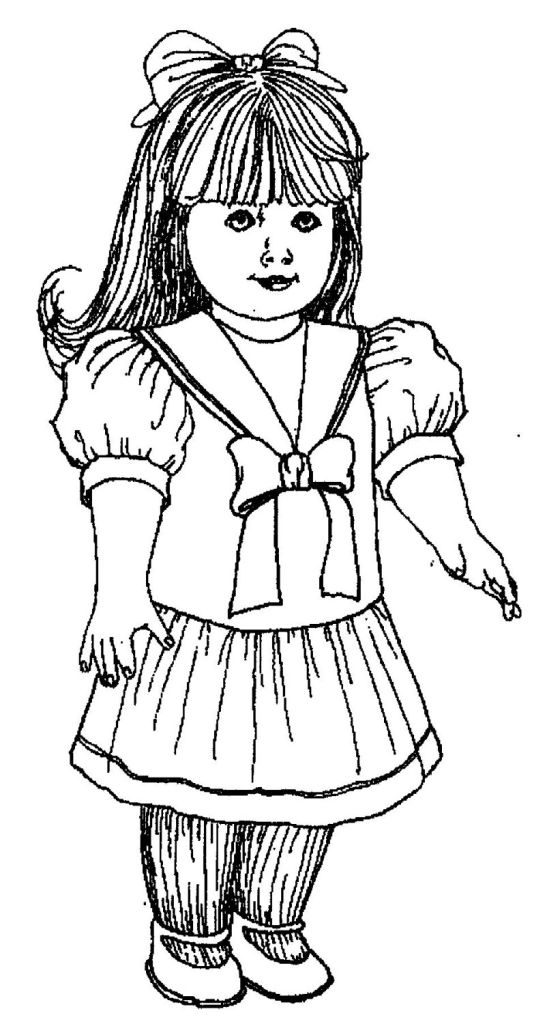 Dressy Girl Doll Coloring Page