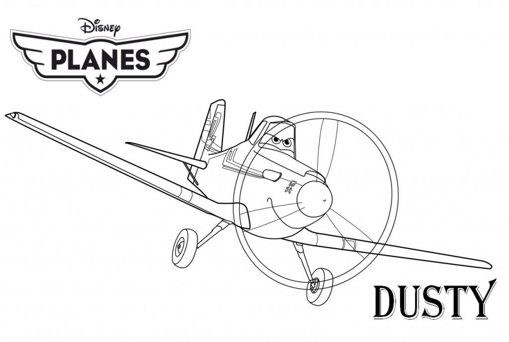 Dusty - Planes Coloring Pages