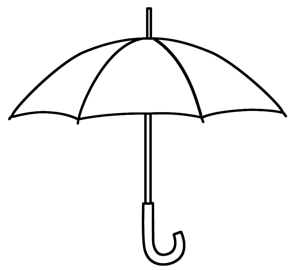 Easy Umbrella Coloring Page