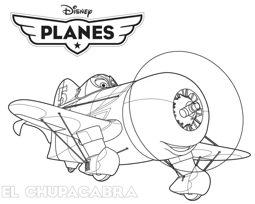 El Chupacabra Planes Coloring Page