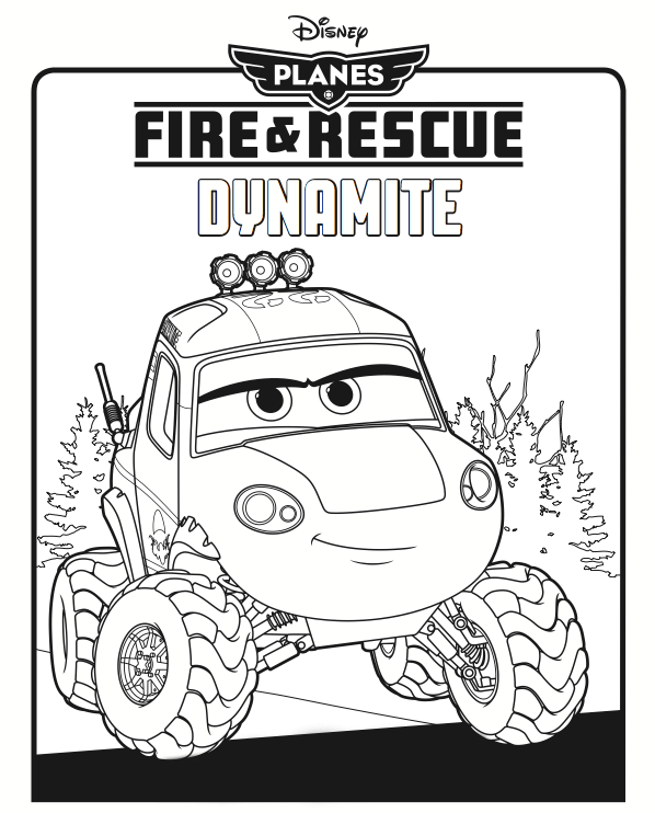 Fire and Rescue Dynamite Coloring Page