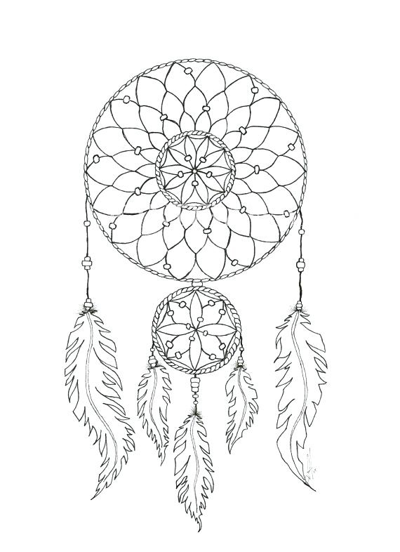 Transformative image within dream catcher printable