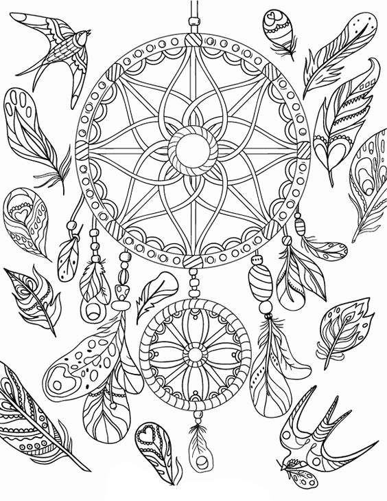 image relating to Printable Adult Coloring Pages Dream Catchers titled Desire Catcher Coloring Webpages - Ideal Coloring Webpages For Children