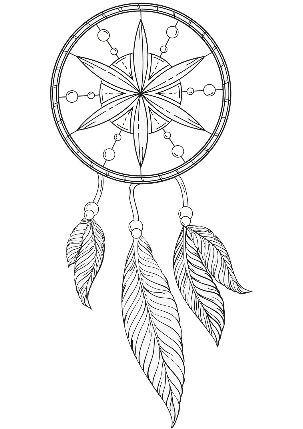 Dream Catcher Coloring Pages - Best Coloring Pages For Kids