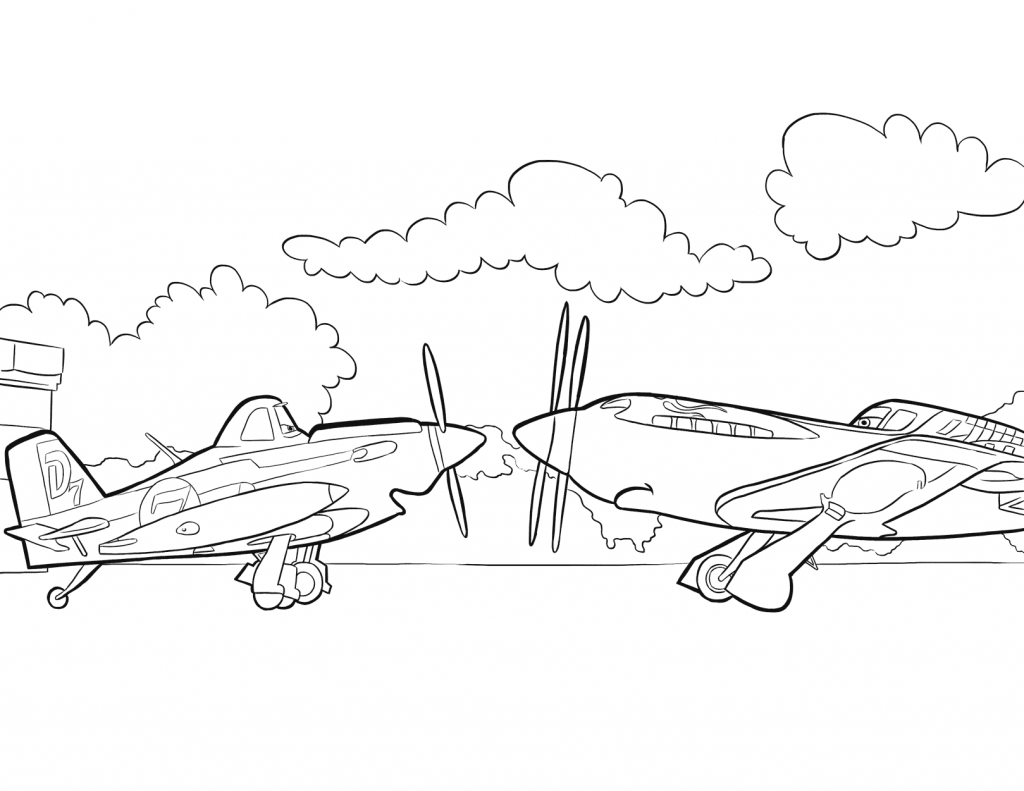 Free Planes Coloring Pages