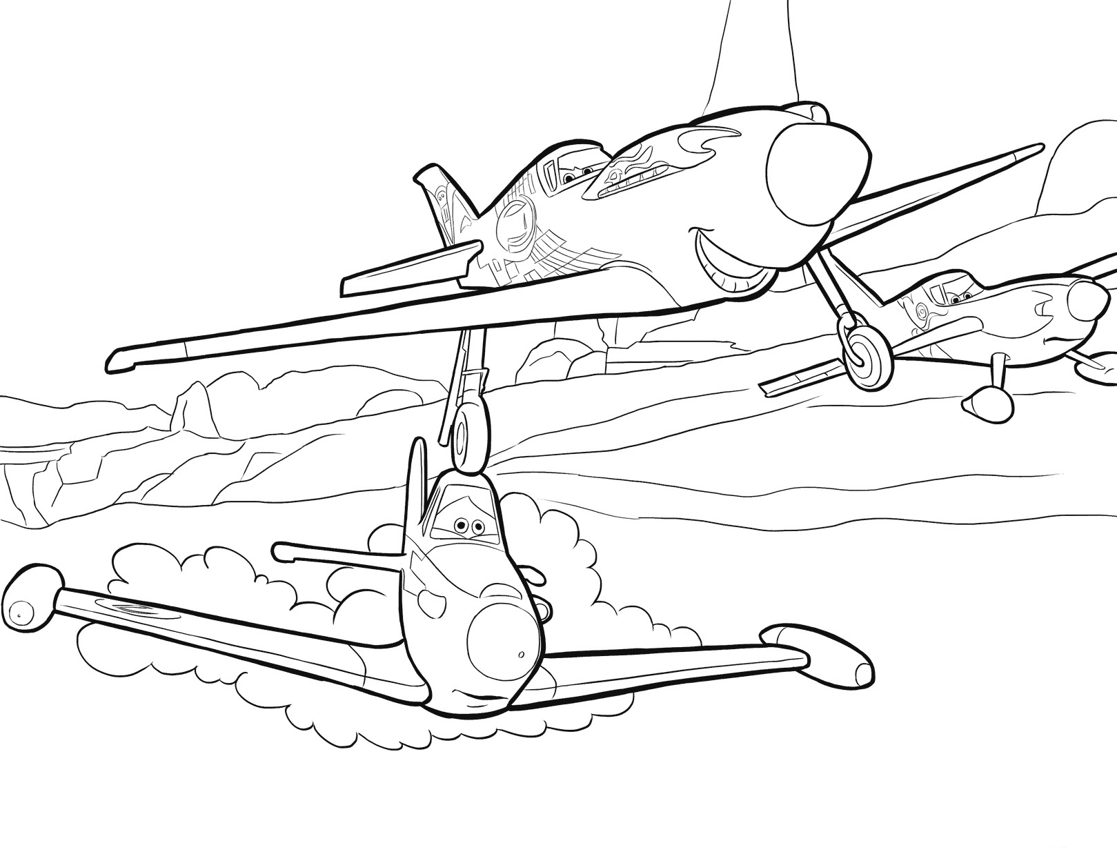 Planes Coloring Pages - Best Coloring Pages For Kids
