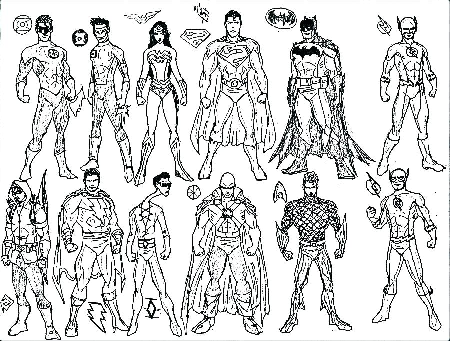 Free Superhero Coloring Pages