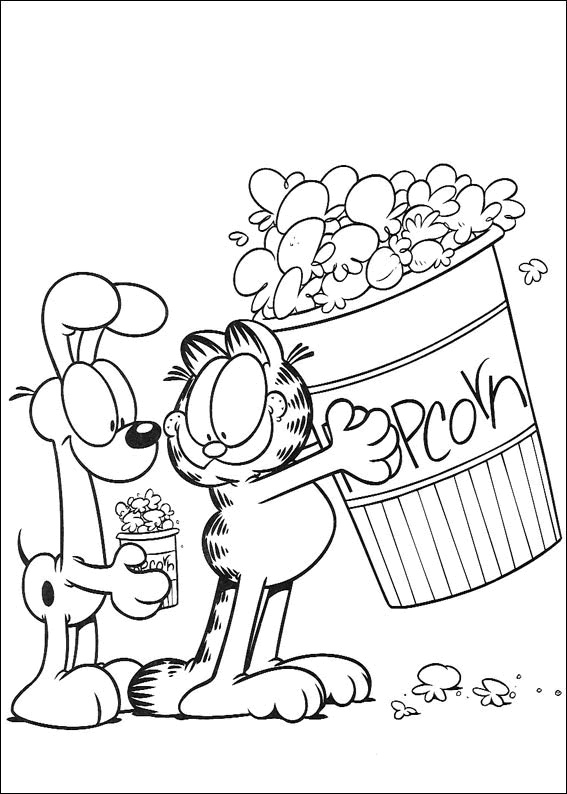 Garfield Cute Coloring Pages