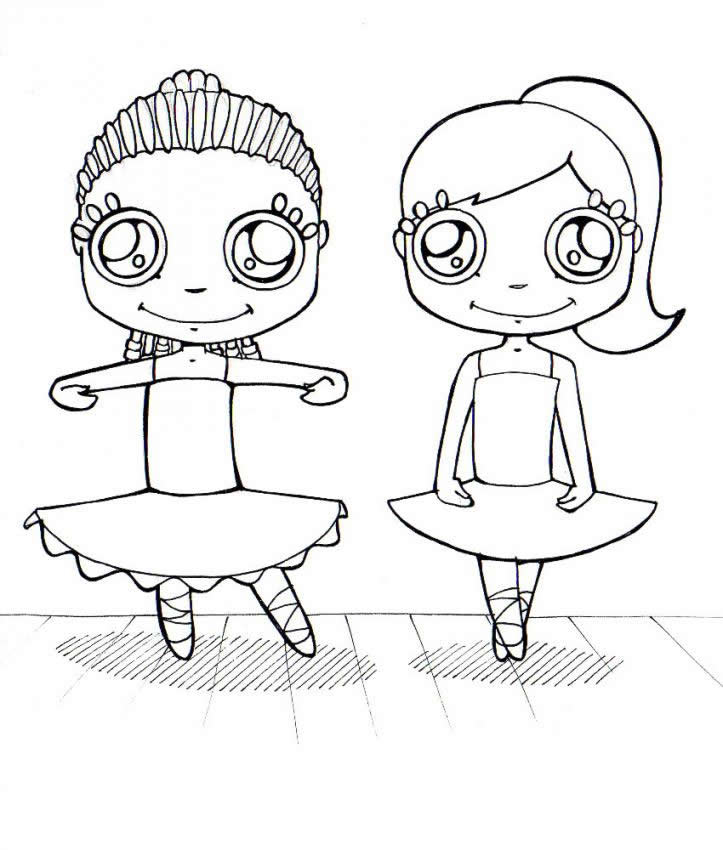 dancing girls coloring pages - photo#14