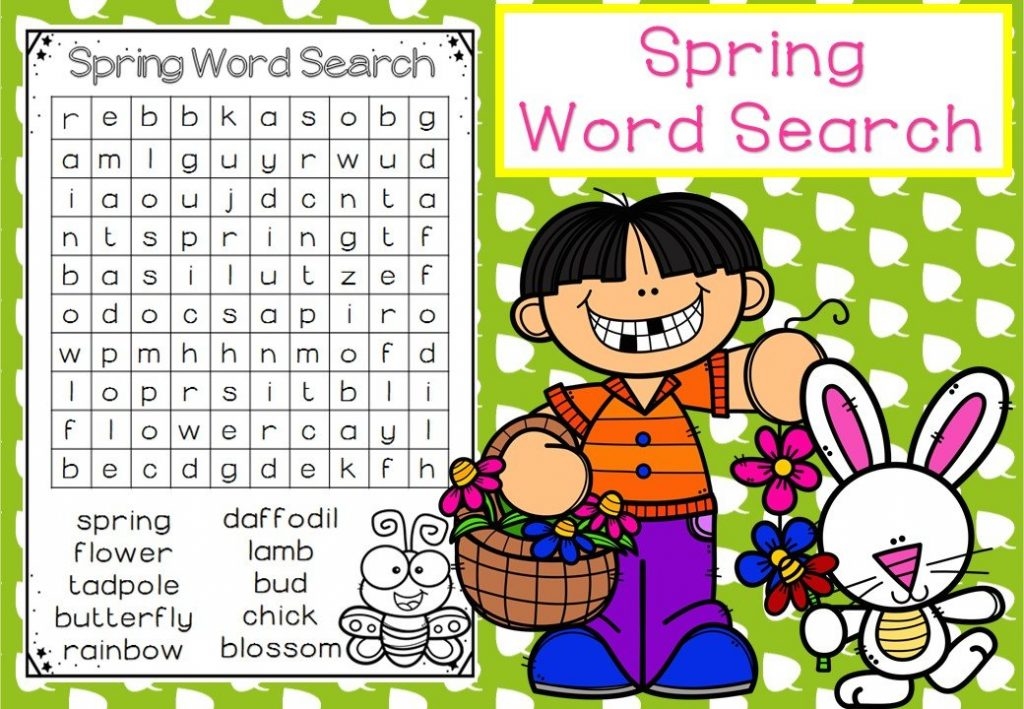 Happy Spring Word Search