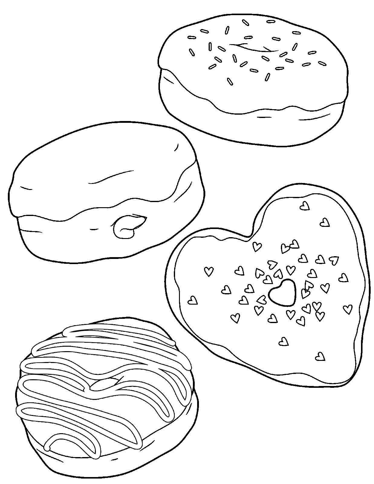 - Donut Coloring Pages - Best Coloring Pages For Kids