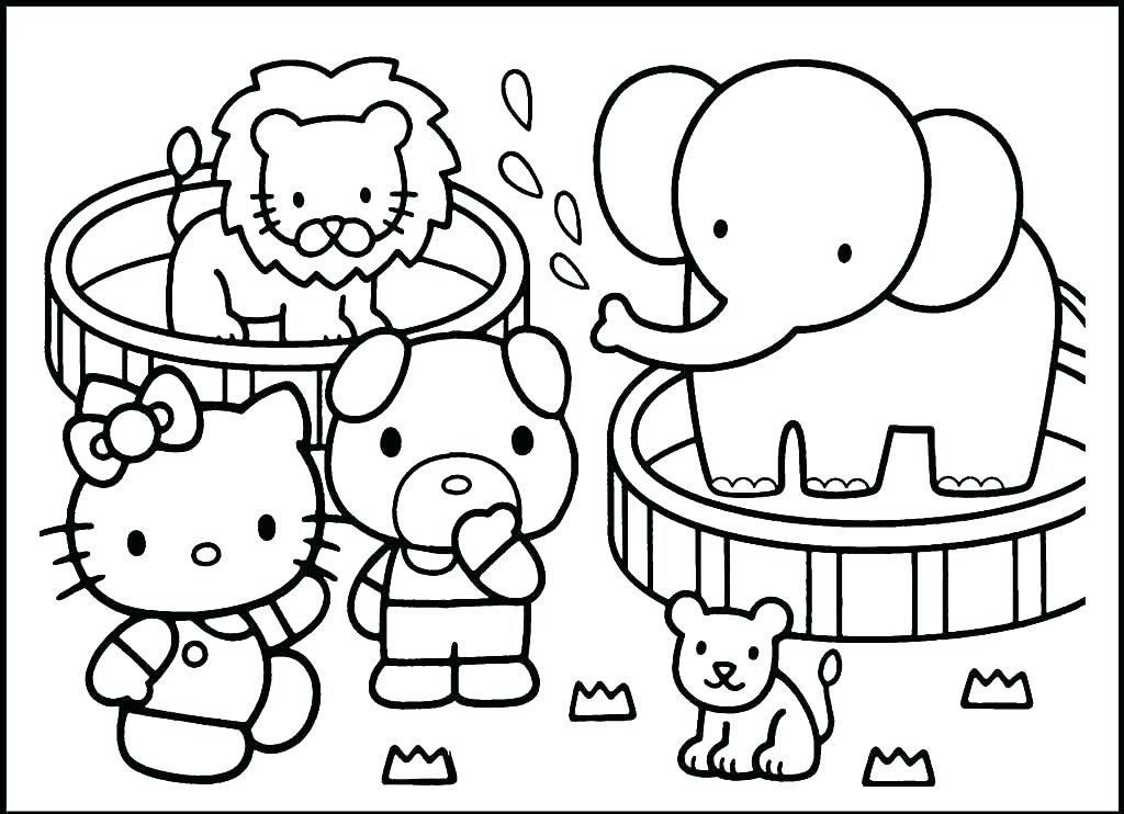 educational coloring pages zoo animals - photo#44