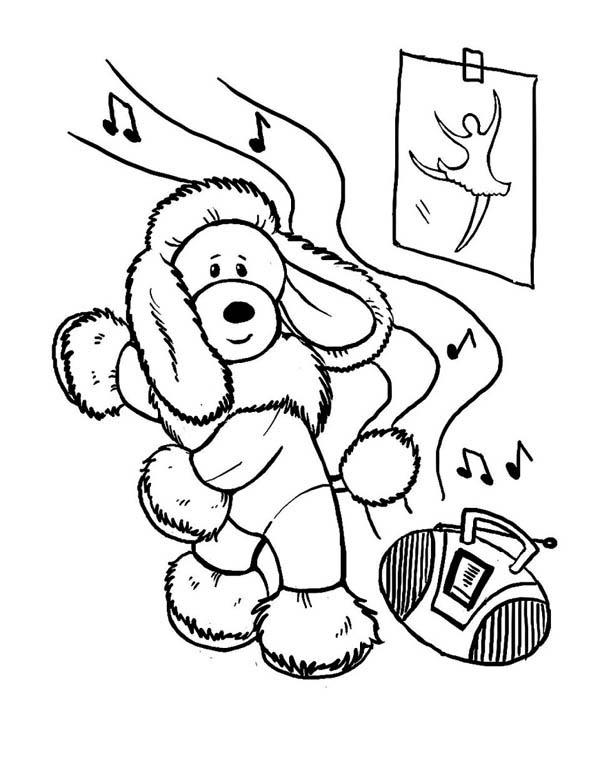 Hip Hop Poodle Dance Coloring Pages