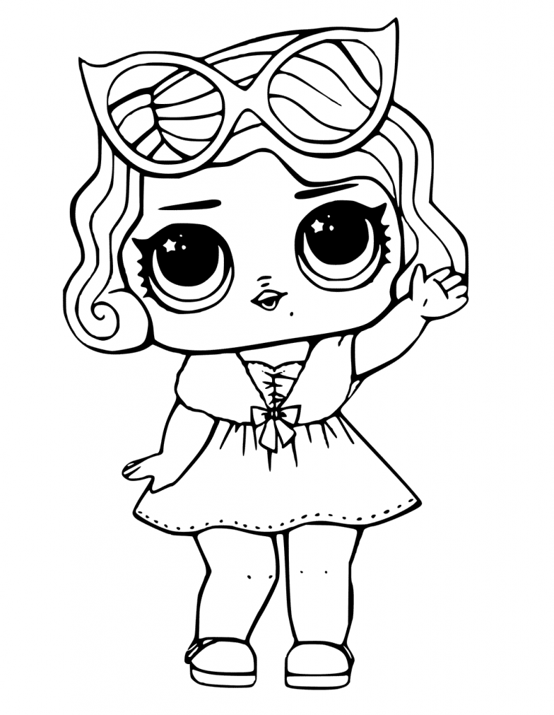 coloring pages dolls - photo#15