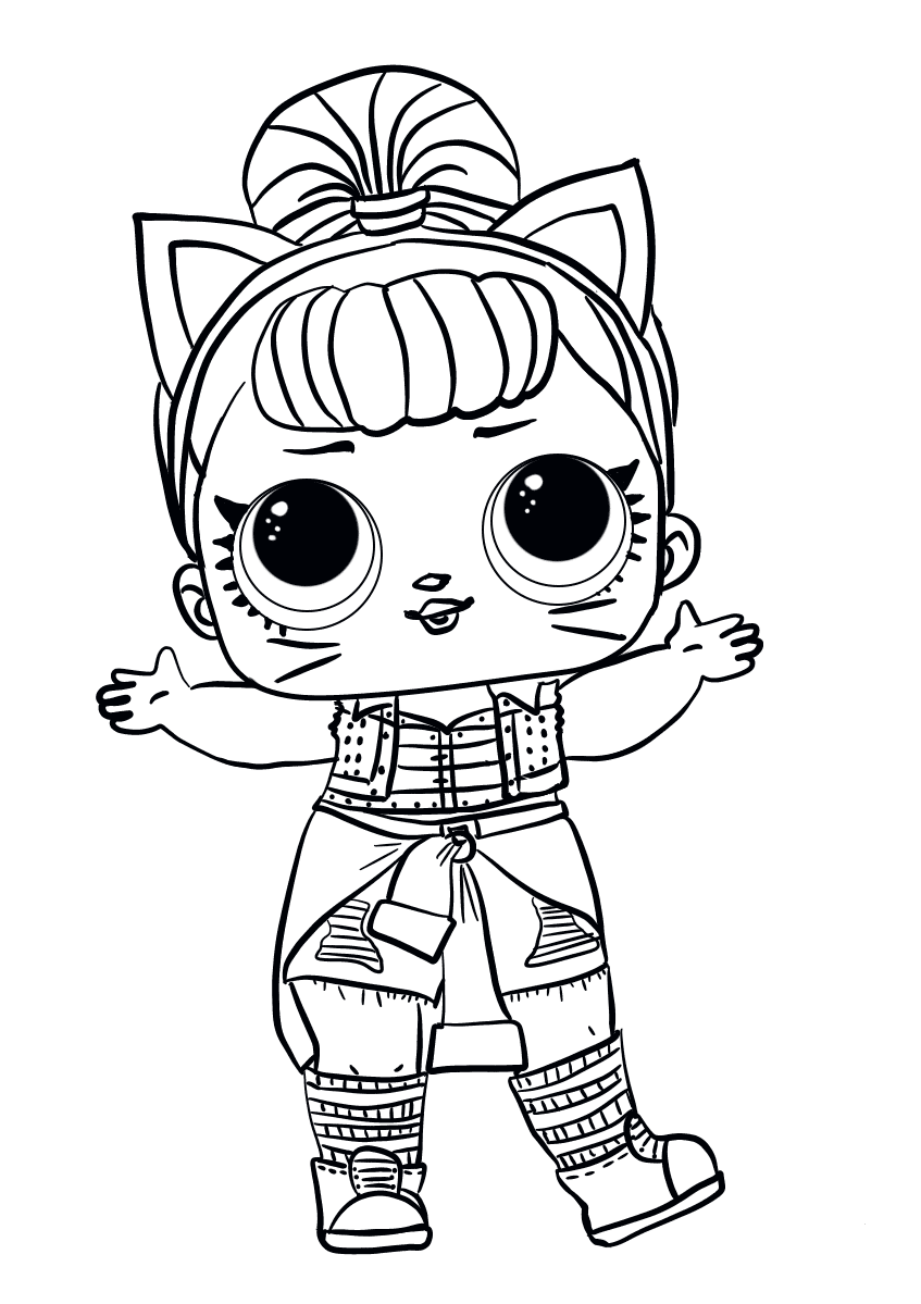 Lol Doll Printable Coloring Pages
