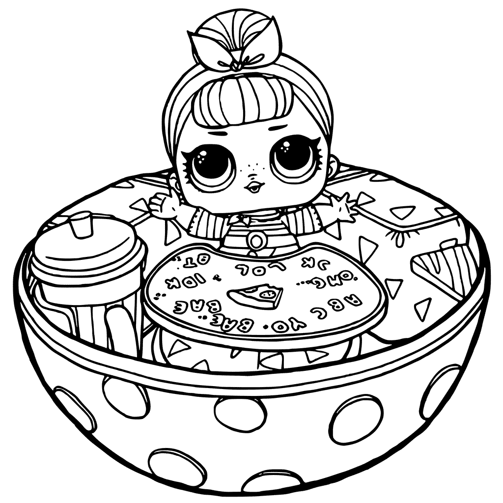 Lol doll surprise coloring pages