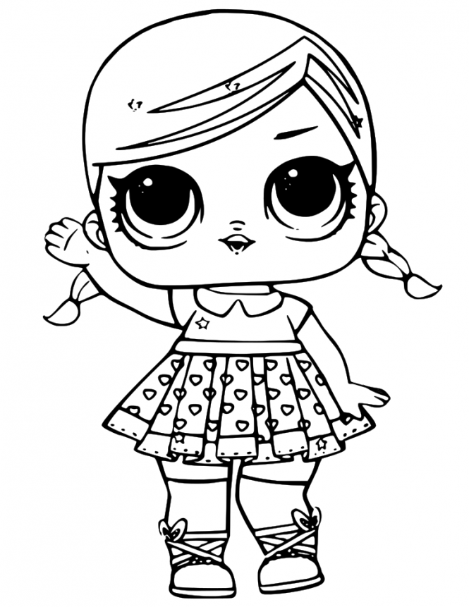 LOL Dolls Coloring Page Printable