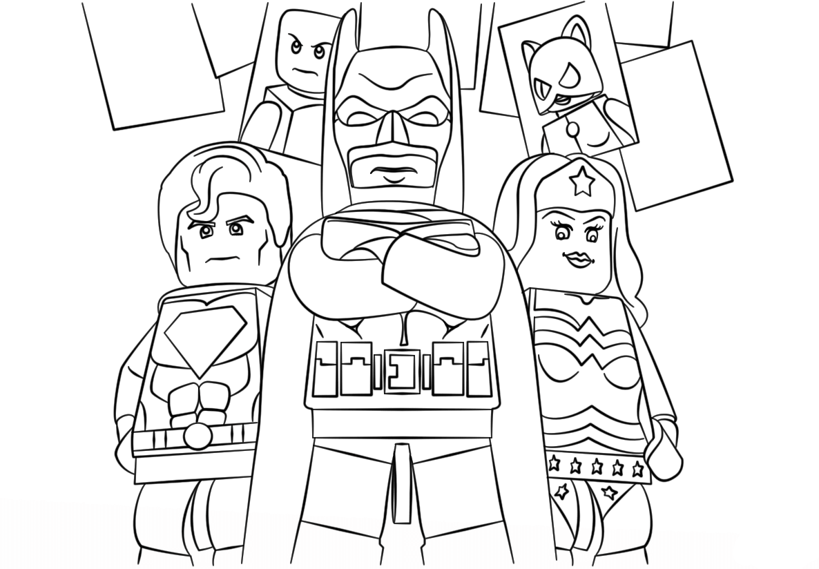 superhero free coloring pages - photo#49