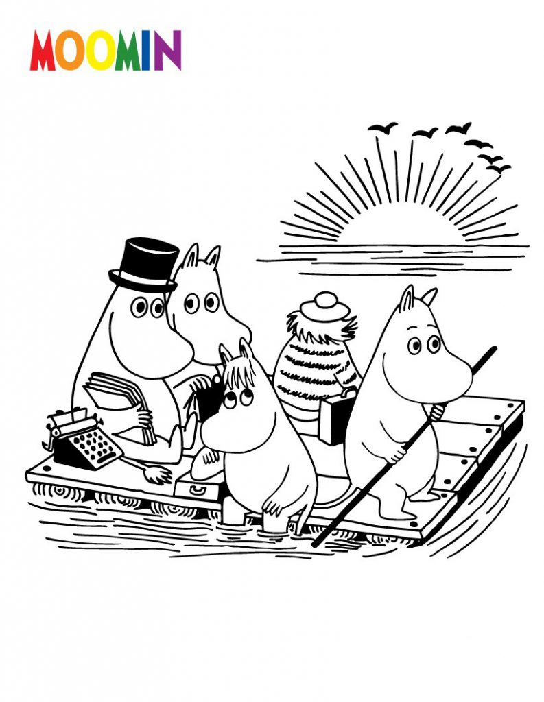 Moomin Cartoon Coloring Pages