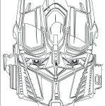 Optimus Prime Face Coloring Page
