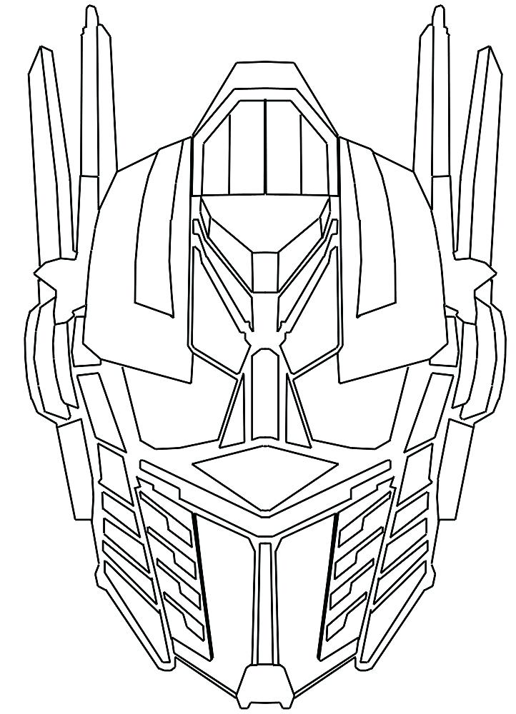 Optimus Prime Head Coloring Page