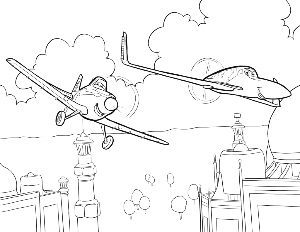 Planes Movie Coloring Printable