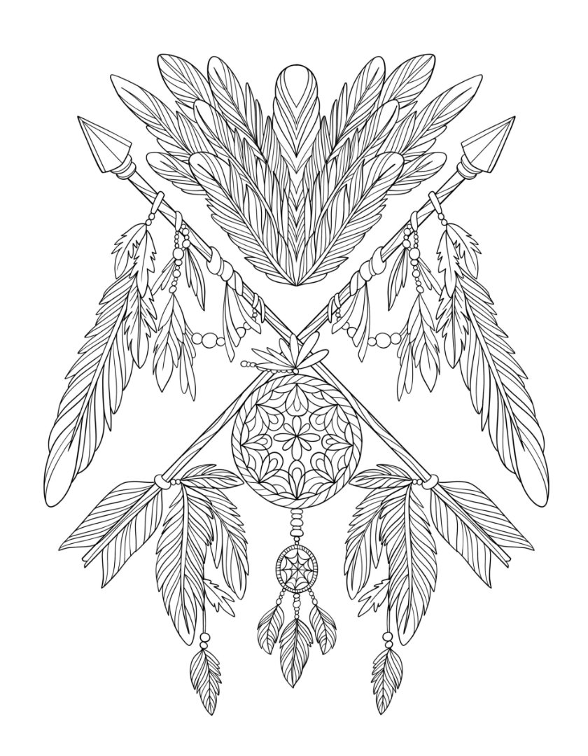 graphic relating to Printable Adult Coloring Pages Dream Catchers titled Aspiration Catcher Coloring Webpages - Least difficult Coloring Internet pages For Youngsters
