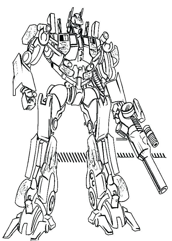 Print Optimus Prime Coloring Pages