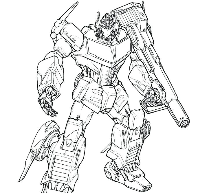 Print Optimus Prime Transformers Coloring Page