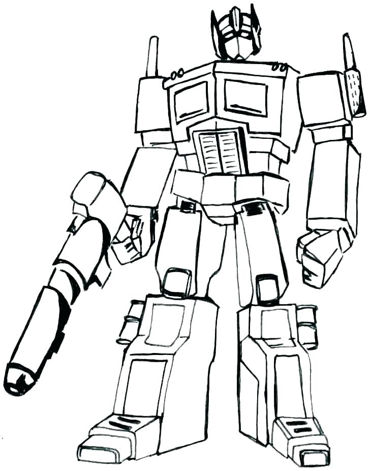 Printable Optimus Prime Coloring Pages