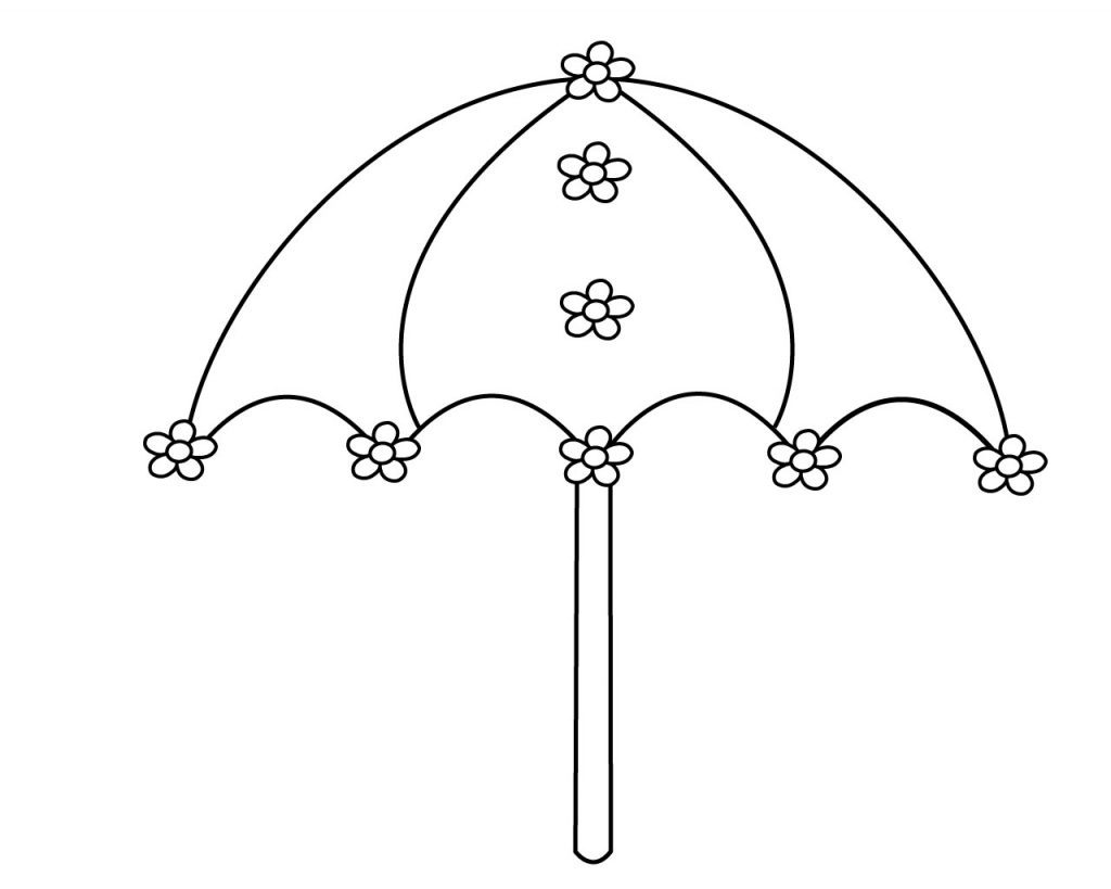 Umbrella Coloring Pages Best
