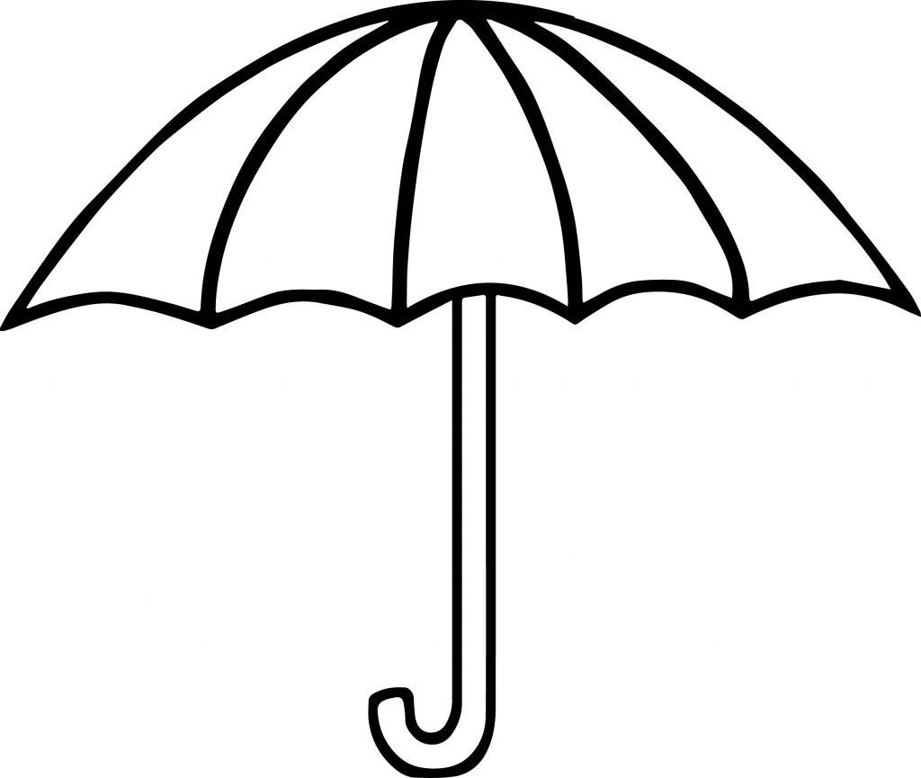 Simple Umbrella Coloring Page