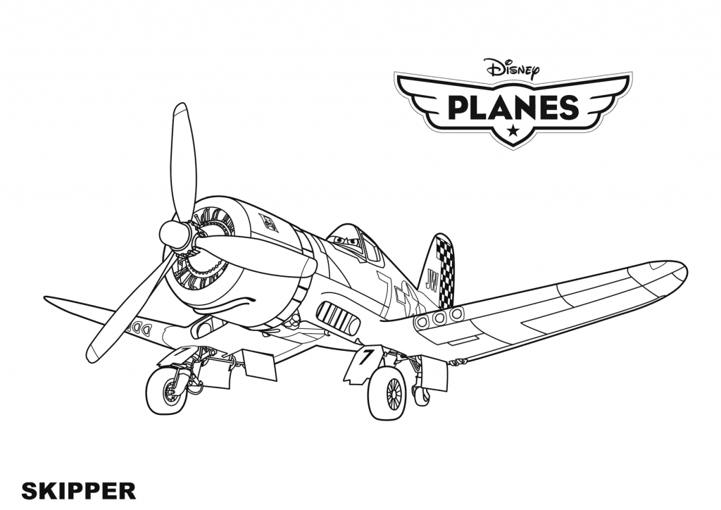 Skipper - Planes Coloring Pages
